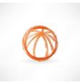 Basketball ball grunge icon vector