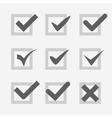 Set of check mark ok confirm accept voice symbol vector