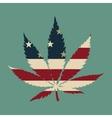 Marijuana leaf with the usa flag colors vector