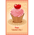 Beautiful postcard on valentines day vector