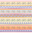 Seamless bicycle pattern background1 vector