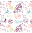Exotic fruits background vector