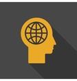 Human head - global technology vector