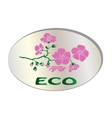 Natural organic flower icon vector