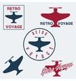 Set of vintage retro aeronautics flight badges and vector