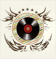 Grunge vinyl banner vector