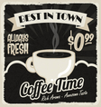 Old vintage coffee poster vector