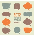 Retro textured speech bubbles set vector