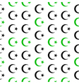 Star and crescent symbol seamless pattern vector