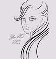 Beautiful girl in fashion style vector