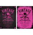 Vintage pink poster vector