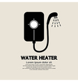 Water heater vector