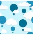 Air balloons seamless pattern vector