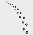 Dogs footprints 2 vector