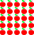 Seamless apple texture autumn fruit background vector