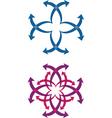 Abstract arrow logos vector