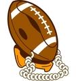 Classic football phone vector