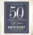 50 years anniversary background vector