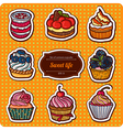 A set of delicious cakes vector