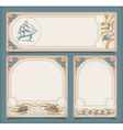 Set of sea vintage vacation frame banners labels vector