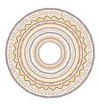 Round ornament design ethnic style vector