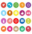 Technology gadget screen flat icons on white vector
