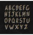 Alphabet on blackboard texture vector