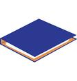 Cardboard folder vector