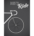 Template with bicycle theme vector