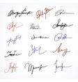 Signature fictitious autograph on white vector