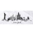 Silhouette ink new york vector