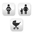 Baby pram buttons vector