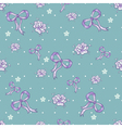 Seamless pattern with ribbons and flowers vector