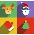 Santa claus and christmas new year flat design vector