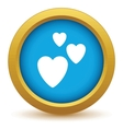 Three hearts icon vector