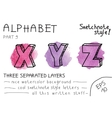 Colorful alphabet - part 9 vector