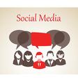 Social media forum vector