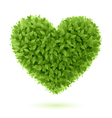Heart symbol of green leaves vector