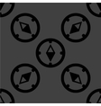Compass web icon flat design seamless gray pattern vector