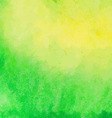 Green and yellow watercolor paint background vector