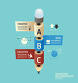 Pencilisometric colorful pencil infographicd vector