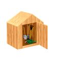 Garden shed vector