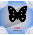 Butterfly flat modern web button on a flat vector