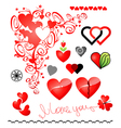 Various variants of hearts for your design vector