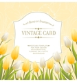 Vintage card with tulips vector
