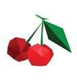 Abstract geometric polygonal cherries vector