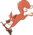 A squirrel cartoon vector