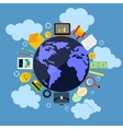 Business web applications with globe concept vector