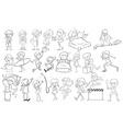 Doodle design of people vector