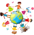 Children ih the world vector